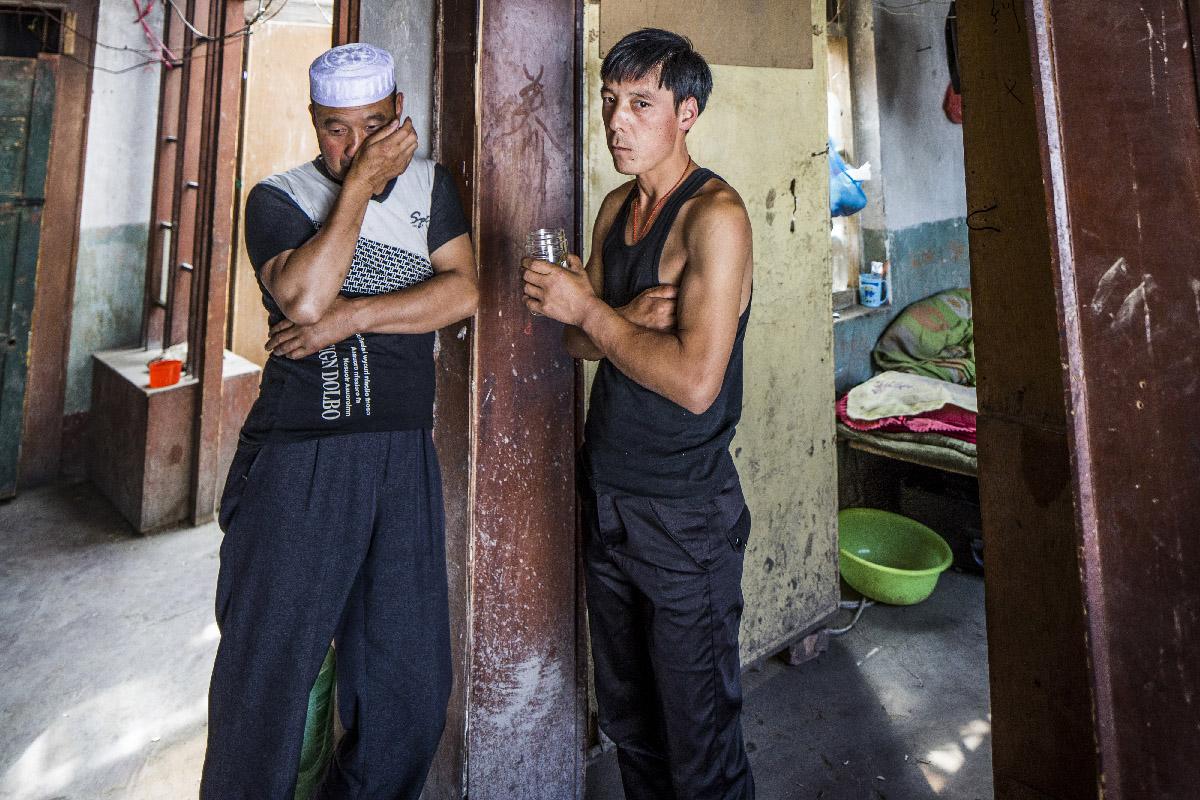 Ouvriers de l ethnie musulmane chinoise des Hui