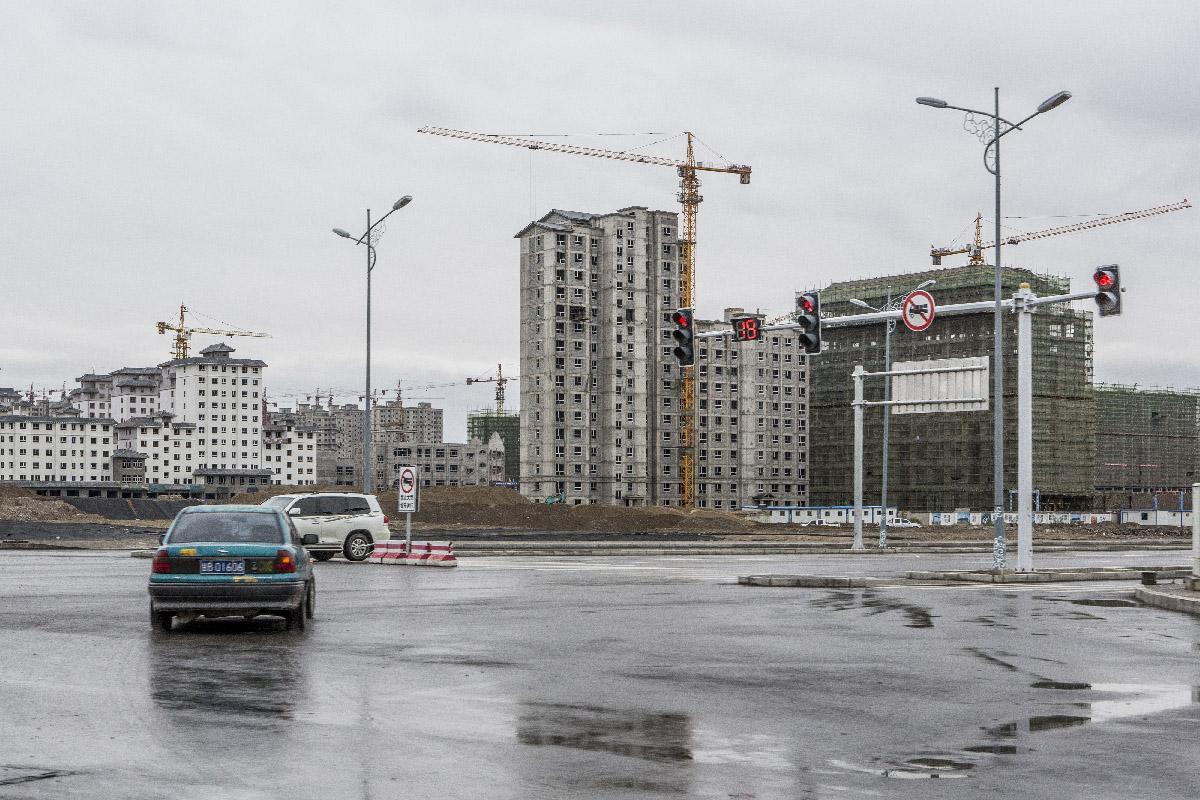 Jiuquan Nouveaux immeubles
