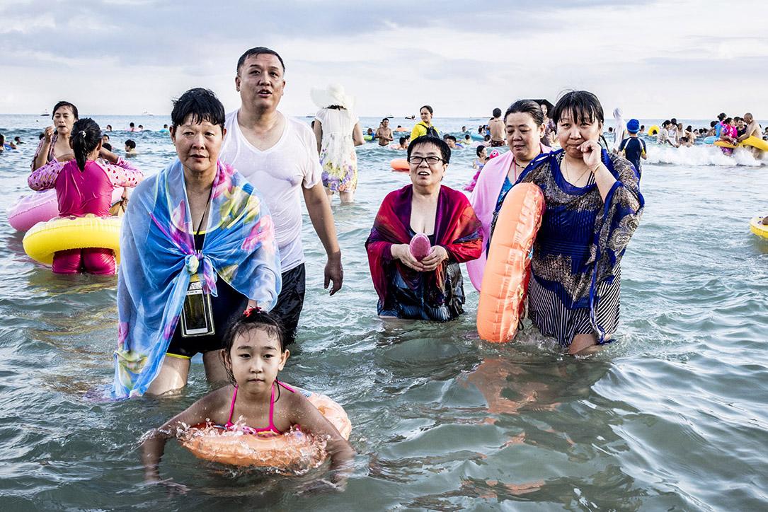 Les Chinois à la Plage