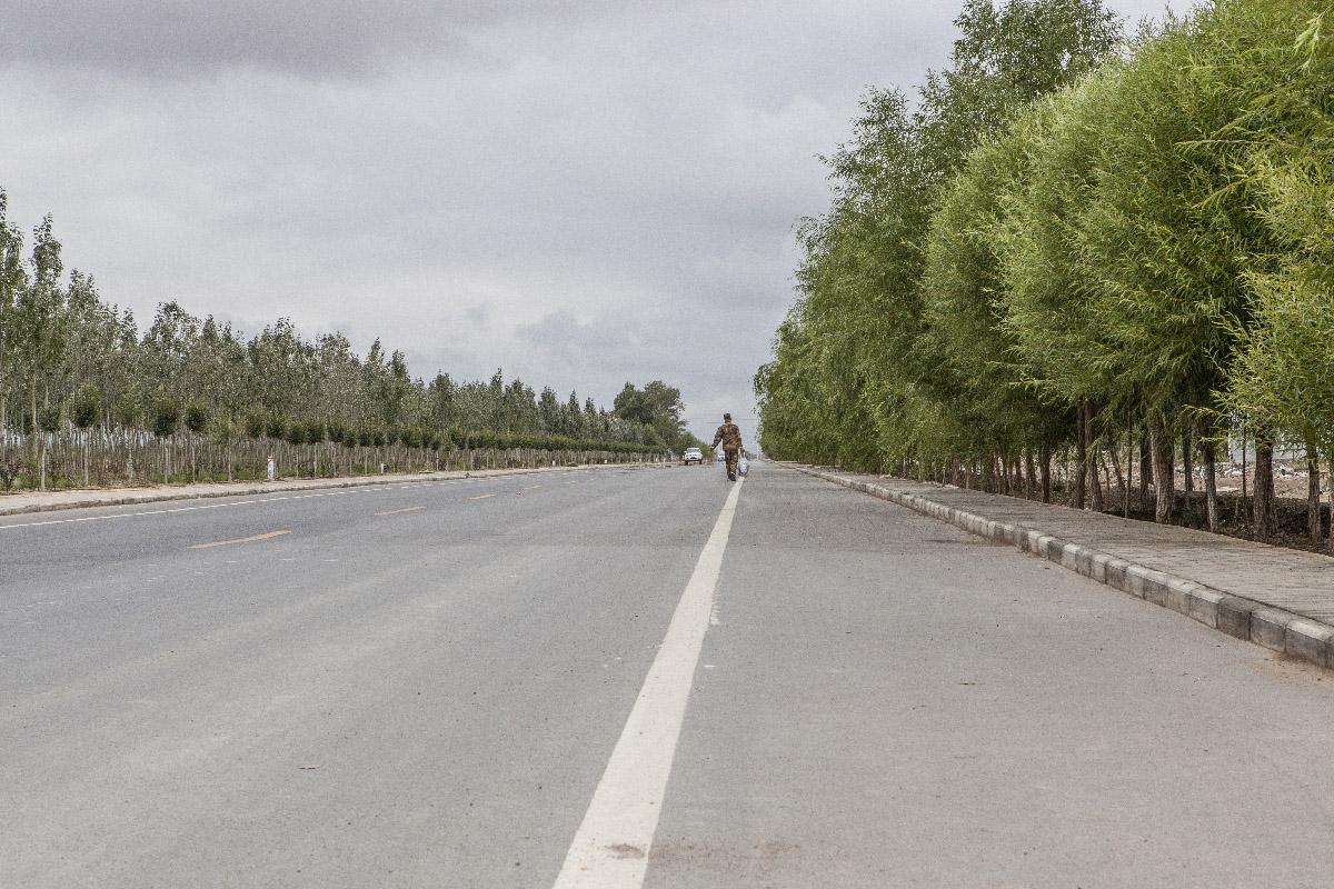 Nouvelle route sortie de Yumen